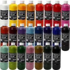 500ml Stoffmalfarbe BASIC  - 24 FARBEN - Textilfarbe Stoffe Farbe (EUR 15,98/L)
