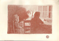 1899 Victoriano Studio Estampado ~ En Famille Por Emile Noel
