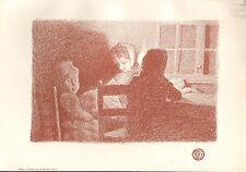 1899 VICTORIAN STUDIO PRINT ~ EN FAMILLE By EMILE CLAUS