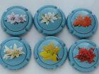 Série de 6 New. capsules de Champagne VEUVE CHEURLIN fleurs de lotus