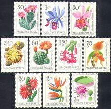 Hungary 1965 Orchids/Cactus/Cacti/Flowers/Plants/Nature 10v set (n36714)