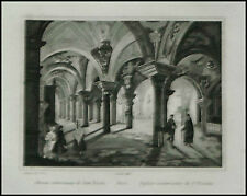 1836:BARI,Sotterran.Chiesa S.Nicola.Antica Stampa.AUDOT
