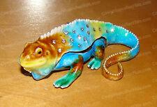Komodo Dragon (Reptile, 3456) Bejeweled Baked Enamel Lizard Trinket Box