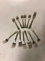 Lot 13 Argyle Silver plate , forks Vintage Flatware Silverware