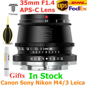 TTArtisan 35mm F1.4 APS-C Manual Focus Lens for Sony Fujifilm M4/3 Canon Leica