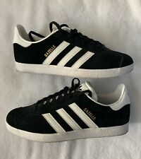 ADIDAS ORIGINALS GAZELLE Mens Sneakers - Black/White 8.5