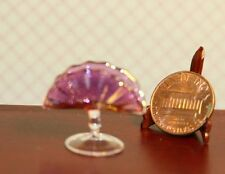 Dollhouse Miniature Artisan Cranberry Glass Flower Stand by Philip Grenyer