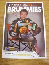 09/04/2014 Speedway programme: Birmingham v COVENTRY (résultats noté). merci pour