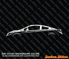 2X Car silhouette stickers - for Honda Civic coupe, 9th generation FB