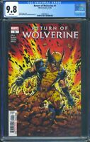 Return of Wolverine 1 (Marvel) CGC 9.8  White Pages 1st full appearance of Perse