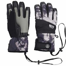 New 2019 Neff Mens Digger Snowboard Gloves Large Black Bleach