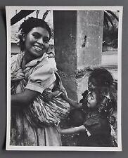 Lisa Larsen Vintage Silver Gelatin Photo 20x25 Guatemala Mother and Children B&W