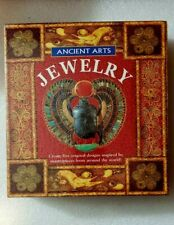 New listing Running Press Ancient Arts Jewelry Kit 5 Designs Beads  00006000 Gems Book Templates Loom