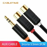 3.5mm Male To Female 2Rca Cable Y Adapter Rca Jack Stereo Aux Audio Cord Adapter