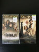NEW SEALED LOT 2 Lord Of The Rings VHS Fellowship Two Towers
