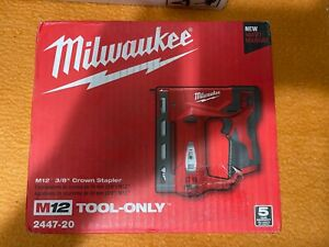 Milwaukee 2447-20 M12 Li-Ion 3/18 in. Cordless Crown Stapler (Tool Only) New