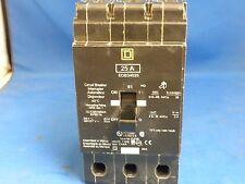 SQUARE D 25A CIRCUIT BREAKER EDB34025 USED