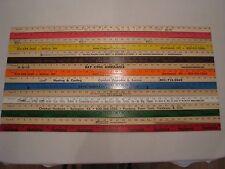 16 Yardstick Wood Wooden Ruler Lot Advertising Sign Color Art Craft Hobby