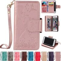Luxury Leather Folio Stand Wallet Case Cover For Apple iPhone 5S 6 6S 7 Plus