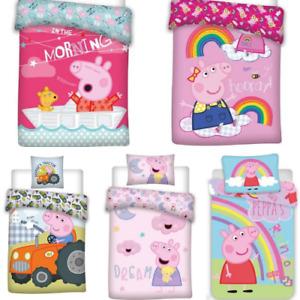 Kinderbettwäsche Bettbezug Bettgarnitur Peppa Wutz George Peppa Pig 100x135 Baby