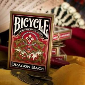 Bicycle® Dragon Back Playing Cards Red Gold Poker Deck Magic Gift Oriental