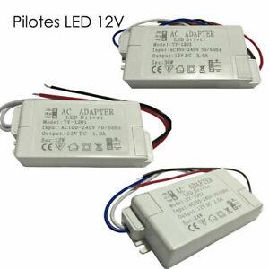Transformateur LED Alimentation Pilote Driver DC12V Adaptateur Secteur
