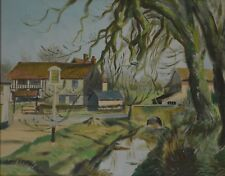 The River Blythe in Suffolk Oil on Board Signed by Olive Budden