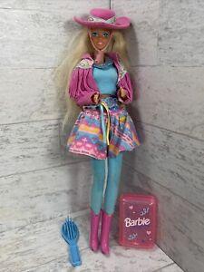 VINTAGE Cowgirl BARBIE DOLL - BLONDE 1976 MATTEL Western Doll W Comb