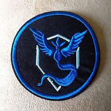 "🕹�3"" Pokemon Go App Game Logo Blue Team Mystic Patch! Nintendo Classic Nes"