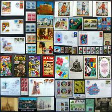 Huge Lot, Stamps, Cards, FDC, Olympics, Music, Comics, Buddha, USSR, Mystic, Set