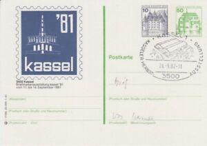 Ganzsachen  Berlin  PZP 3  Burgen & Schlösser mit Beidruck eines 2. Wertstempels