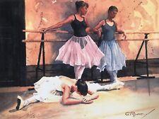 Ballerina Dancers BARRY SAPP Watercolor Art Print 3/25