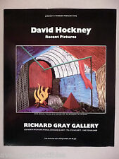 David Hockney - Richard Gray Art Gallery Exhibit PRINT AD - 1992