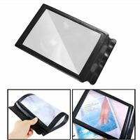 A4 Flat PVC Magnifier Sheet X4 Book Page Magnifying Reading Glass Lens UR