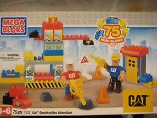 Mega Bloks 7852 CAT Construction Adventure Set 75 Pcs Toddler Duplo Size