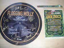 Flogging Molly - Float LP Ltd picture disc drunken lullabies signed autographed