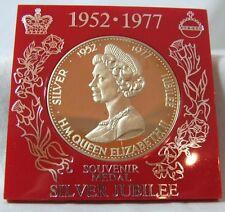 1977 Queen Elizabeth Silver Jubilee CASED Souvenir Medal AS STRUCK 38mm