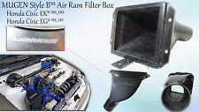 New Honda Civic EG6 EG9 EK4 EK9 FRP B16A Air Filter Box Mugen Style 92-00 AIRBOX