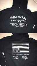 Vintage Rare Immortal Technique Hoodie Hip Hop Rapper Rap Music Harlem Nike Air