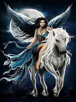 Full drill Diamond Painting Beautiful Angel Unicorn Moon Fashion Handicraft 6104