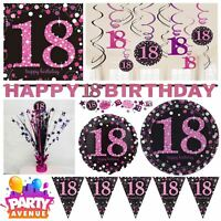 Pink Sparkling Celebration 18th Birthday Party Tableware Decorations Balloons