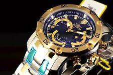 Invicta Pro Diver Scuba 3.0 Chrono Tachymeter Black Dial 2-Tone Bracelet Watch