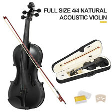 Full Size 4/4 Violin Handed Natural Acoustic Fiddle with case Tangerine Black