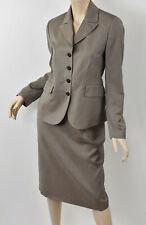 ZANELLA Taupe Lightweight Wool Alyssa Blazer & Polly Pencil Skirt Suit Set 6/8