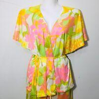 RARE Vintage Lilly Pulitzer Nylon Silky Pajamas Large Pjs 70s