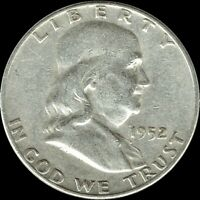 "A 1952-D Franklin Half Dollar 90% SILVER US Mint ""Average Circulation"""