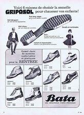 PUBLICITE ADVERTISING 1965 035 BATA semelle Griposol pour enfants