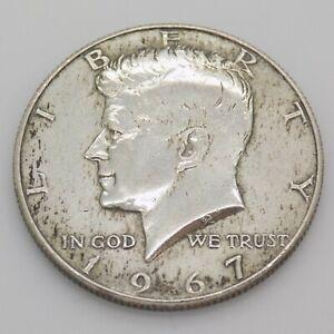 1967 Kennedy Half Dollar 40% Silver Coin Silver 400/000
