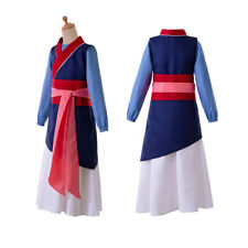 Girls Heroine Hua Mulan Costume Dress up Halloween Cosplay Party Fancy Outfit
