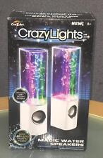 Brand New Speakers Cra-z-art CrazyLights Magic Water Speakers White Base